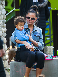 Chrissy Teigen, John Legend with their kids Luna and Miles Stephens are seen in Los Angeles, California. **SPECIAL INSTRUCTIONS*** Please pixelate children's faces before publication.** NON-EXCLUSIVE March 7, 2020. 07 Mar 2020 Pictured: Chrissy Teigen,Miles Stephens. Photo credit: BG020/Bauergriffin.com / MEGA TheMegaAgency.com +1 888 505 6342