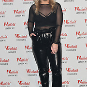 Ella Henderson prepare to take the stage at Westfield London 10th-year anniversary birthday celebrations on 30 October 2018, London, UK.