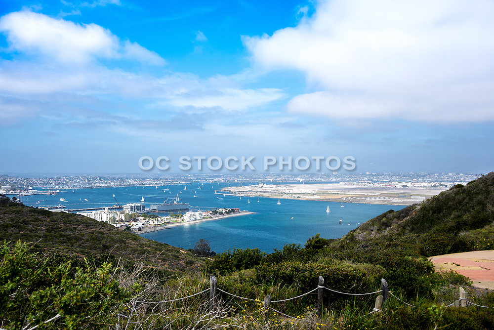 A View Of San Diego From The Bluffs Of Cabrillo In Point Loma