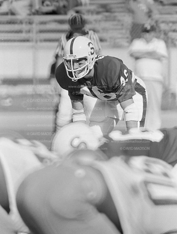 COLLEGE FOOTBALL: Stanford v UCLA, October 6, 1979 at Stanford Stadium in Palo Alto, California.  Joe St. Geme III #46.  Photograph by David Madison | www.davidmadison.com.