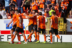 Dundee United's Lawrence Shankland celebrates after scoring their fourth goal. Dundee United 4 v 1 Inverness Caledonian Thistle, first Scottish Championship game of season 2019-2020, played 3/8/2019 at Tannadice Park, Dundee.
