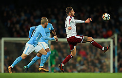 Jeff Hendrick of Burnley and David Silva of Manchester City - Mandatory by-line: Matt McNulty/JMP - 06/01/2018 - FOOTBALL - Etihad Stadium - Manchester, England - Manchester City v Burnley - Emirates FA Cup Third Round