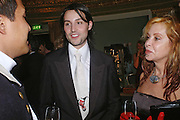ROCKY MAZZILLI AND  MRS LOUISE MAZZILLI. War and Peace charity Ball, Dorchester Hotel. Park Lane. London. 17 February 2005. ONE TIME USE ONLY - DO NOT ARCHIVE  © Copyright Photograph by Dafydd Jones 66 Stockwell Park Rd. London SW9 0DA Tel 020 7733 0108 www.dafjones.com