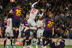 May 1, 2019 - Barcelona, Barcelona, Spain - Players of Liverpool in action during UEFA Champions League football match, between Barcelona and Liverpool, May 01th, in Camp Nou stadium in Barcelona, Spain. (Credit Image: © AFP7 via ZUMA Wire)