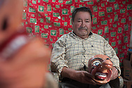 """Feast of """"Mamacha del Carmen"""" of Paucartambo. Nicomedes Yabar, born in Paucartambo but resident in Cuzco for decades, is the acknowledged master in terms of making masks of papier mache. These masks are present in most of the festivities of Cuzco area."""