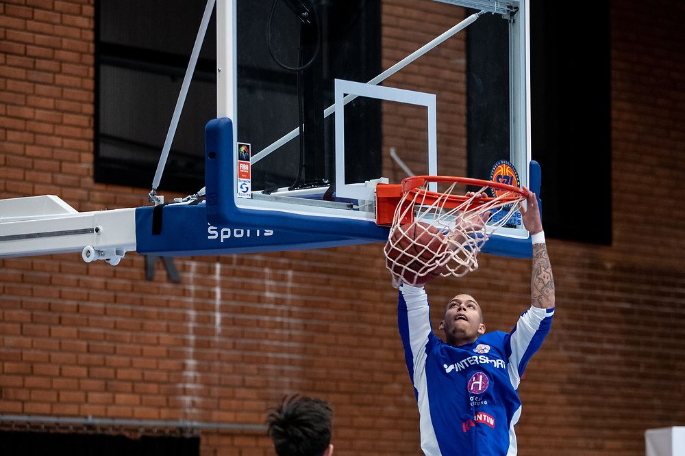ÖSTERSUND 20210924<br /> Jämtlands Pierre Hampton under fredagens match i Basketligan mellan Jämtland Basket och Nässjö Basket i Östersunds Sporthall<br /> <br /> Foto: Per Danielsson/Projekt.P