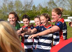 Bristol Ladies celebrates a decisive win over Saracens Women - Mandatory by-line: Paul Knight/JMP - 09/04/2017 - RUGBY - Cleve RFC - Bristol, England - Bristol Ladies v Saracens Women - RFU Women's Premiership Play-off Semi-Final