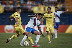 September 20, 2018 - Vila-Real, Castellon, Spain - James Tavernier (C) of Rangers competes for the ball with Alfonso Pedraza of Villarreal CF during the UEFA Europa League group G match between Villarreal CF and Rangers at Estadio de la Ceramica on September 20, 2018 in Vila-real, Spain  (Credit Image: © David Aliaga/NurPhoto/ZUMA Press)