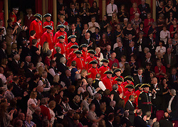 © Licensed to London News Pictures. 07/11/2015.  Royal Albert Hall, London, UK.  Chelsea pensioners, Veterans and their families were joined by Her Majesty the Queen and members of the Royal family this evening at the annual Festival of Remembrance.  Photo credit : Alison Baskerville/LNP