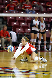 30 August 2011: Jenny Menendez during an NCAA volleyball match between the Cougars of Southern Illinois Edwardsville and the Illinois State Redbirds at Redbird Arena in Normal Illinois.