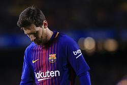 January 7, 2018 - Barcelona, Catalonia, Spain - January 7, 2017 - Camp Nou, Barcelona, Spain - LaLiga Santander- FC Barcelona v Levante UD; Leo Messi of FC Barcelona portrait before a kick a corner. (Credit Image: © Eric Alonso via ZUMA Wire)