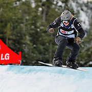 Snowboard-Cross racer Alexandra Jekova (BUL) competes during small-final race action at the 2009 LG Snowboard FIS World Cup on February 13th, 2009 at Cypress Mountain, British Columbia. Alexandra Jekova's third place finish was enough to secure seventh place overall for the event. Mandatory Photo Credit: Bella Faccie Sports Media\Thomas Di Nardo. Contact: Thomas Di Nardo, Snohomish, Washington, USA. Telephone 425-260-8467. e-mail: tom@bellafaccie.com