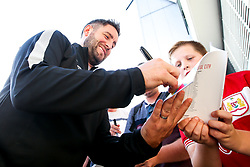 Bristol City Head Coach Lee Johnson arrives at Pride Park for the Sky Bet Championship fixture against Derby County  - Mandatory by-line: Robbie Stephenson/JMP - 20/08/2019 - FOOTBALL - Pride Park Stadium - Derby, England - Derby County v Bristol City - Sky Bet Championship