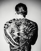 Body builder with tattoos