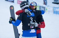 Benjamin Karl and March Aaron during the FIS snowboarding world cup race in Rogla (SI / SLO) | GS on January 20, 2018, in Jasna Ski slope, Rogla, Slovenia. Photo by Urban Meglic / Sportida