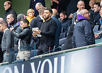 Football - 2019 / 2020 Premier League - Tottenham Hotspur vs. Watford<br /> <br /> Troy Deeney (Watford FC)  watches on from the stand as he is unavailable for selection at The Tottenham Hotspur Stadium.<br /> <br /> COLORSPORT/DANIEL BEARHAM