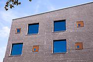 building of the school campus Bildungslandschaft Altstadt Nord (BAN) near the Klingelpuetz park, architect Gernot Schulz, Cologne, Germany.<br /> <br /> Gebaeude des Schulcampus Bildungslandschaft Altstadt Nord (BAN) am Klingelpuetzpark, Architekt Gernot Schulz, Koeln, Deutschland.