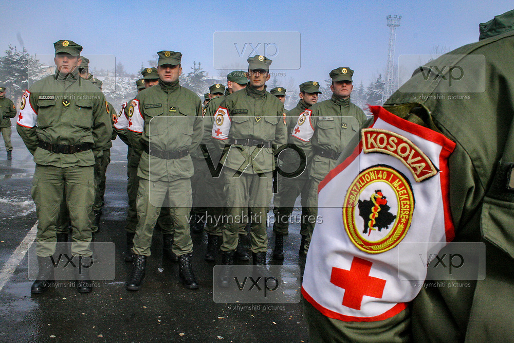 Kosovo Protection Corps (TMK) takes to a military style parade during celebrations for Flag Day, which is the biggest holiday in Prishtina, the capital city of Kosovo. November 28th for Ethnic Albanians in Kosovo is a flag day when Albania declared its independence from the Ottoman Empire in 1912. The separated territory of Albania, Kosovo is looking forward to a greater and full independence from Serbia, which inherited territory from Yugsolavia. (Photo/ Vudi Xhymshiti)