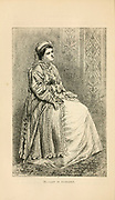 Lady of Bucharest, Romania  engraving on wood From The human race by Figuier, Louis, (1819-1894) Publication in 1872 Publisher: New York, Appleton