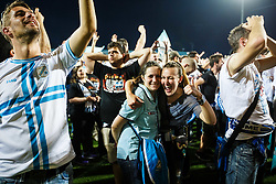 Fans during celebration after winning Croatian national soccer league after football match between HNK Rijeka and HNK Cibala in Round #35 of 1st HNL League 2016/17, on May 21st, 2017 in Rujevica stadium, Rijeka, Croatia. Photo by Grega Valancic / Sportida