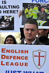 © under license to London News Pictures. 22/11/2010. Stephen Lennon. English Defence League founder Stephen Lennon appears in court today (Monday) in West London accused of assaulting a police officer on the anniversary of Armistice Day. Lennon was arrested during a counter protest against a hardline Islamic group. Photo credit should read: Stephen Simpson/LNP