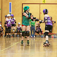 North Wales Roller Derby take on Auld Reekie Roller Derby in the Tier 1 Womens North British Champs at Kingsway Leisure Centre, Widnes, Cheshire, United Kingdom 2020-02-29