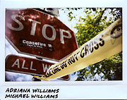Police tape marking off a crime scene near the 2600 block of West 46th Place where Adriana Williams, 27-year-old, and her brother Michael Williams, 24-year-old, were killed in Chicago in this photo taken, May 8, 2017. Both Williams' were shot on May 7, 2017, while attending a memorial for their friend Daniel Cordova, 26-year-old, who was killed around 13 hours earlier on the same block.