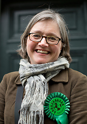 © Licensed to London News Pictures. 03/05/2015. London, UK. Islington Green party candidate Caroline Russell in Islington, London, today. Photo credit: LNP