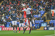 Bolton Midfielder Keshi Anderson scores making it 1-1 during the EFL Sky Bet League 1 match between Bolton Wanderers and Southend United at the Macron Stadium, Bolton, England on 3 September 2016. Photo by Pete Burns.