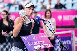 PORTOROZ, SLOVENIA - SEPTEMBER 18: Tereza Mihalikova of Slovakia after the double finals of WTA 250 Zavarovalnica Sava Portoroz at SRC Marina, on September 19, 2021 in Portoroz / Portorose, Slovenia. Photo by Nik Moder / Sportida
