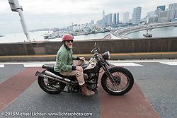 The Race of Gentlemen's Mel Stultz on a ride around Tokyo with friends of the Freewheelers And Company shop. Tokyo, Japan. December 8, 2015.  Photography ©2015 Michael Lichter.