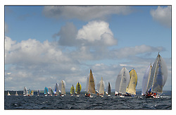 The third days racing at the Bell Lawrie Yachting Series in Tarbert Loch Fyne ..Perfect conditions finally arrived for competitors on the three race courses...IRC Classes 1,2,3 head own the reach.