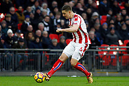 Kevin Wimmer of Stoke City in action. Premier league match, Tottenham Hotspur v Stoke City at Wembley Stadium in London on Saturday 9th December 2017.<br /> pic by Steffan Bowen, Andrew Orchard sports photography.