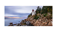 The Bass Harbor Head Light, a classic New England lighthouse, Bass Harbor, Maine, USA - Acadia National Park