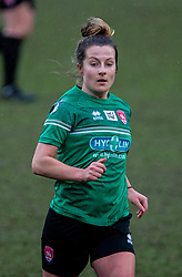 BIRKENHEAD, ENGLAND - Sunday, March 14, 2021: Coventry United's Becky Anderson during the FA Women's Championship game between Liverpool FC Women and Coventry United Ladies FC at Prenton Park. Liverpool won 5-0. (Pic by David Rawcliffe/Propaganda)