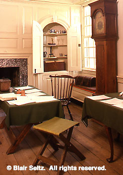 Interior, Washington Headquarters, Valley Forge National Historical Park, King of Prussia, Montgomery Co., PA