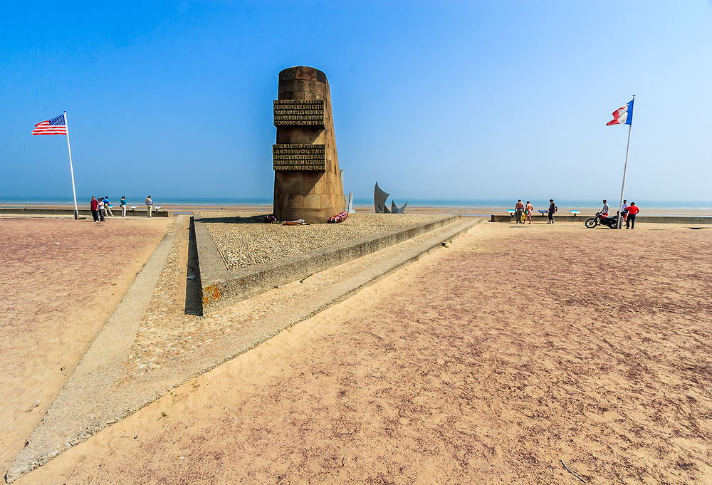 Omaha Beach D-Day Monument at Saint-Laurent-sur-Mer, France.