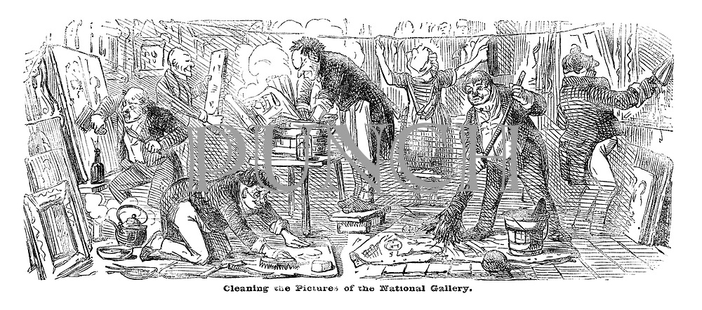 Cleaning the Pictures of the National Gallery.