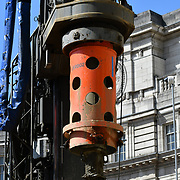 Construction workers drills CRANE at Admiralty Arch, on 27June 2019, London, UK.