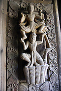 Myanmar, Mandalay, Golden Palace Monastery, carved wooden sculpture