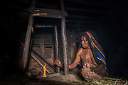 Dani tribe woman (Naklak)<br /> Jiwika village<br /> Suroba<br /> Trikora Mountains<br /> West Papua<br /> Indonesia