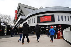 Bristol City fans arrive at Ashton Gate Stadium - Mandatory by-line: Nizaam Jones/JMP - 17/03/2018 - FOOTBALL - Ashton Gate Stadium- Bristol, England - Bristol City v Ipswich Town - Sky Bet Championship