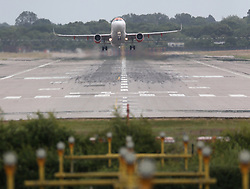 © Licensed to London News Pictures. 29/06/2020. Crawley, UK. Easyjet and British Airways aircraft fleet are seen parked up in Gatwick airport. Gatwick Airport is getting ready for more holiday bookings after the Government agreed to open-air corridors to a number of countries a few days after Britain lifted most of the lockdown rules in England.  Photo credit: Marcin Nowak/LNP