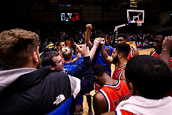 Bristol Flyers huddle after defeat to Newcastle Eagles - Photo mandatory by-line: Robbie Stephenson/JMP - 01/03/2019 - BASKETBALL - Eagles Community Arena - Newcastle upon Tyne, England - Newcastle Eagles v Bristol Flyers - British Basketball League Championship