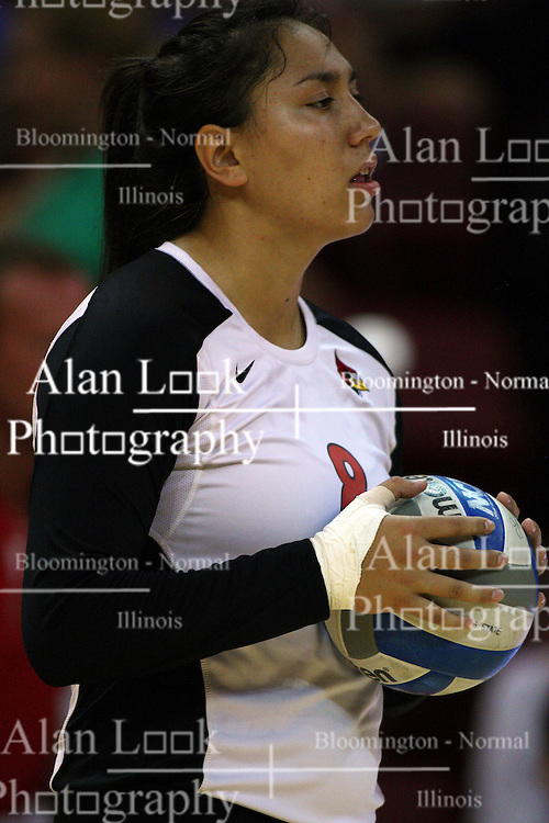 01 September 2012:  Stacy Niao during an NCAA womens volleyball match between the Oregon State Beavers and the Illinois State Redbirds at Redbird Arena in Normal IL