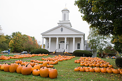 Pumpkins for sale at UCC Church, Granby, CT.