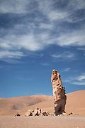 Geological Monolith near Salar de Tara, Atacama Desert. Chile, South America