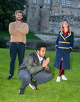 Luke Kempner ,Mo Omar and  Lou Sanders live at the picnic at the castle,Warwick Castle Exclusive photo by Brian Jordan