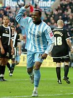 Photo: Ed Godden.<br />Coventry City v Derby County. Coca Cola Championship. 21/01/2006. <br />Coventry's Stern John.
