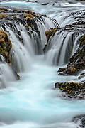 Bruarfoss waterfall in autumn. Golden circle Route. Iceland